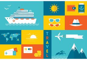 Free Flat Travel Vector Icons