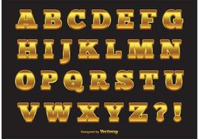 Elegant Gold Vector Alphabet