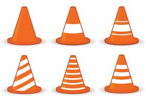 Orange Cone Icon Vectors