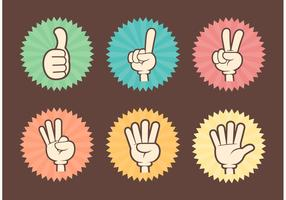 Free Counting Cartoon Hands Vector