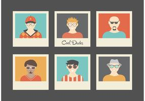 Free Cool Dudes Retro Vector Avatars
