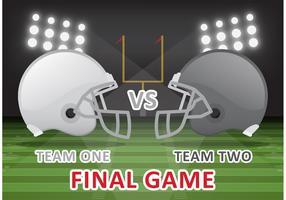 Football Final Game Vector