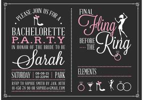 Free Bachelorette Party Invitation Vector