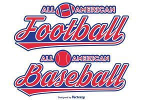 Football / Baseball Typographic Labels