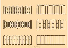 Picket Fence Outline Vectors
