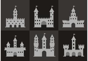 Gray Fort Icon Vectors