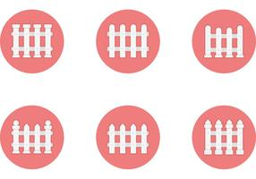 Free Vector Flat Styled Fence Icons