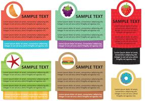 Food Info Text Box Template Vectors