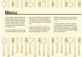 Example Vintage Menu Vector