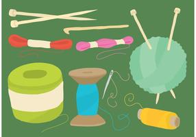 Balls Of Yarn And Craft Vector Tools