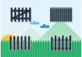 Picket Fence Vectors with Landscape