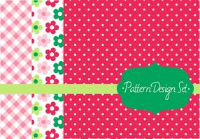 Retro Pattern Vector Design Set