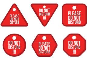Do Not Disturb Vector Pack
