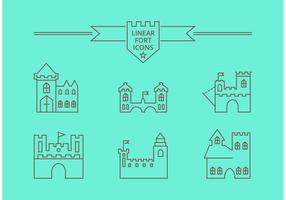 Free Vector Linear Fort Icons