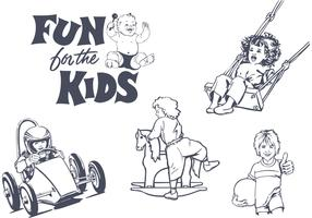 Free Vector Fun For The Kids Designs