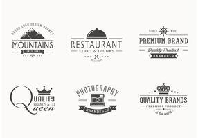 Free Retro Logotypes Vector Set