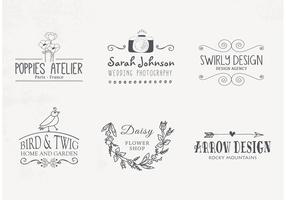 Free Hand Drawn Logo Designs Vector