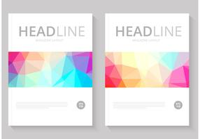 Free Abstract Magazine Cover Vector