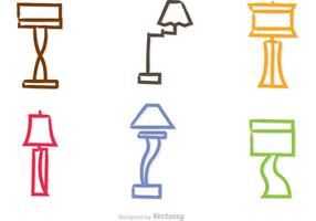 Colorful Modern Chandelier Vectors