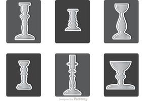 Various Silver Candlesticks Vector