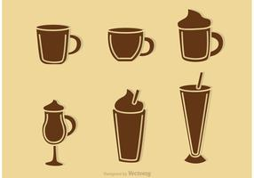 Coffee Drink Silhouette Vectors