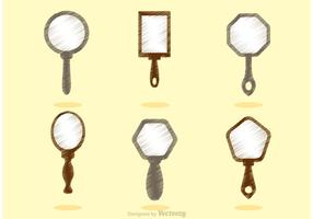 Sketchy Vintage Hand Mirror Vectors
