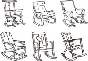 Rocking Chair Vector Sketches