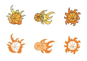 Free Basketball on Fire Vector Series