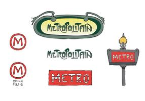 Free Paris Metro Vector Series