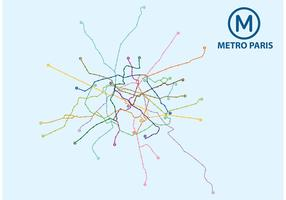 Metro Paris Map Vector
