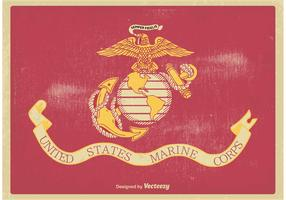 US Marine Corps Flag Vector Illustration