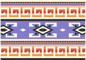 Purple Native American Pattern Vector