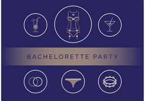 Bachelorette Party Vector Set