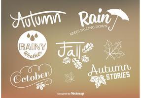 Señales de vector de tipo de otoño personalizados