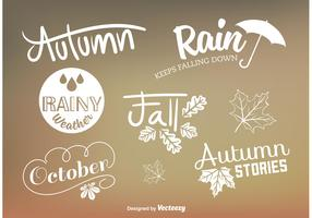 Custom Autumn Type Vector Signs
