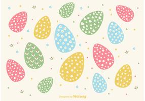 Hand Drawn Easter Egg Background Vector