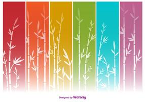 Colourful Bamboo Vector Backgrounds