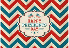 Free Vector Happy Presidents Day Retro Background
