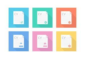 Free Flat Curriculum Vitae Vector Icons