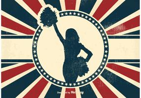 Vintage Cheerleader Background