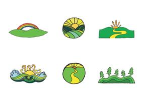 Free Rolling Hills Vector Series