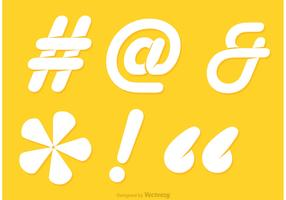 Hashtag Sosial Media White Symbol Vector