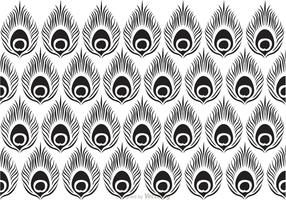 Peacock Black Pattern Vector