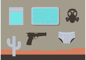 Breaking Bad Desert Items Vector Set