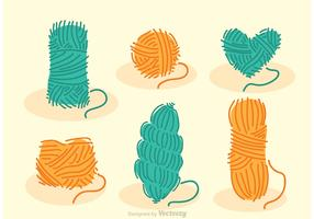 Collection Set Of Yarn Vectors