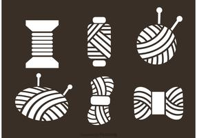 Ball Of Yarn Vector Icons