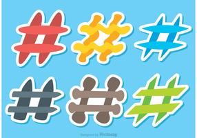 Colorful Hashtag Icons Vectors