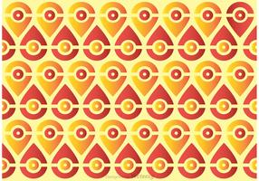 Seamless Peacock Tail Pattern Vector