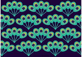 Peacock Beautiful Tail Pattern Vector