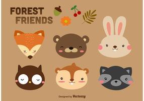 Forest Animals Cartoon Vectors